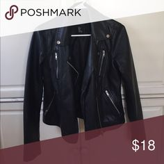 Faux leather jacket Forever 21 amazing faux leather jacket-looks and feels real! Silver hardware. Jackets & Coats