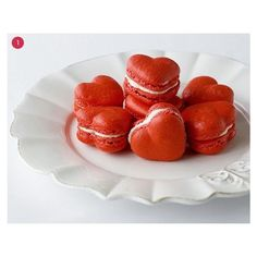 Roundup 25 Easy Valentine's Day Treat Ideas! Curbly ❤ liked on Polyvore featuring food, backgrounds, food and drink, food & drinks and hearts