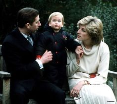 Precious Charles, William and Diana at Kensington Palace December 1983