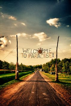 Would love to be welcomed by this sign.