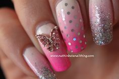 3D Butterfly Bling #NailArt is featured for #ManicureMonday from @sossidgelover! Show off your nice nails at http://blog.aquariann.com/search/label/manicure%20monday?max-results=3