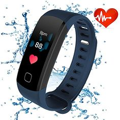 ALANGDUO Fitness Trackers HR with Color Screen 63936f3cd8a4