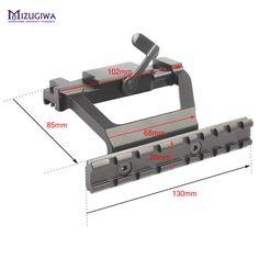 MIZUGIWA Tactical Heavy Duty Rail Mount AK47/ AK74 Airsoft Side Rail Scope Mount QD for 20mm Picatinny Rail Scope Sight Pistol