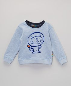 Take a look at this Blue Cat Sweatshirt - Infant & Toddler by Lazoo on #zulily today!