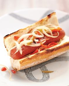 Grilled Hot Dogs with Sweet-Hot Relish