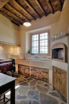 walter galluzzi cucine - New Sites Rustic Kitchen, Country Kitchen, Kitchen Decor, Küchen Design, House Design, Interior Design, Tile Design, Sweet Home, Cuisines Design