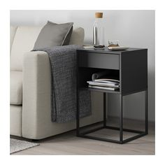 VIKHAMMER Nattbord - svart - IKEA