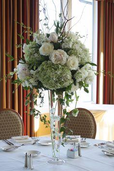 tall white flower wedding centerpieces