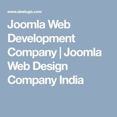 Joomla Web Development Company | Joomla Web Design Company India