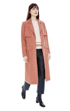 Spring Wardrobe Swaps To Make Right Now #refinery29  http://www.refinery29.com/spring-wardrobe-swaps#slide-1  Out with... Moto jacketsIn with... The modern trenchYour leather moto has done you well, but guess what? Trench coats aren't simply the stuffy staple your mom wears anymore. They're the ultimate transitional outerwear refresh your closet needs. This blush one will go with everything you've bought so far for the season.VEDA</str...