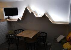 design de l'étagère  La Dénivellée