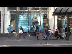 Interactive Augmented Reality Window at the Telstra Store, Melbourne, Australia