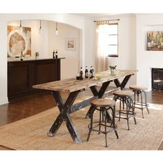 Dining Room Classic Home Aurora Gathering Table Aurora Gathering Table    Furniture Plus Inc.