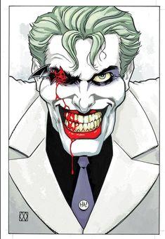 Batman the dark knight returns III : the master race. Variant cover by Matt Wagner Joker Dc, Joker And Harley Quinn, Joker Clown, Frank Miller, Dc Comics Art, Batman Comics, Batman Art, Matt Wagner, Marvel Dc