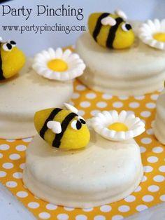 Lemon Drop Bee Cookies