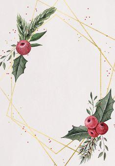 Geometric frame - Christmas Invitation Template (Free) | Greetings Island Free Christmas Invitation Templates, Printable Christmas Cards, Christmas Invitations, Christmas Phone Wallpaper, Winter Wallpaper, Christmas Frames, Noel Christmas, Xmas, Wreath Drawing