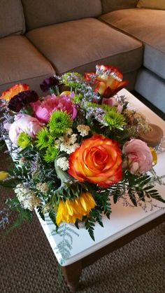 June 25, 2016-  Flowers delivered just because someone knows how much I love fresh flowers!