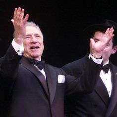 """Mel Brooks takes a bow on opening night for the Broadway musical """"The Producers"""", April 2001"""