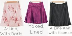 gotta try to do this - It's so hard to find any regular skirts that aren't minis for my daughters!  first, must fix my sewing machine.... skirt variations by Melly Sews
