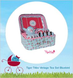 hello world! Tiger Tribe, Tea Sets Vintage, Baby Blog, Blue Bird, Wooden Toys, Baby Shoes, Entertaining, Button, Kids