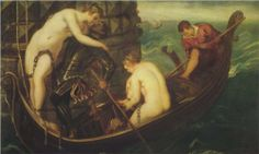Rescue of Arsinoe - Tintoretto.  1555-56.  Oil on canvas.  153 x 251 cm.  Gemaldegalerie Alte Meister, Dresden, Germany.