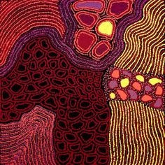 Angkatji Nola Tiger  Perentie Lizard Dreaming  Acrylic on canvas