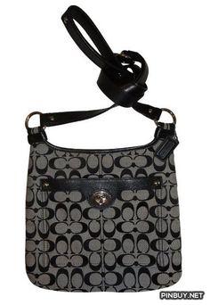 Coach Penelope Signature C Hippie Crossbody Bag Handbag with Leather Trim Style - Cross Body - Bags and Purses