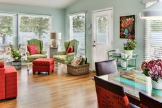 House of Turquoise: Kim Hoegger HOME // dining room table in the lower right