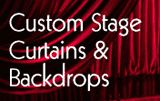 Custom Stage Curtains & Backdrops--Use for Fabric/Backdrop