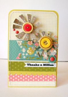 Scrapbook & Cards Today - The Blog: Summery inspiration with Nicole Nowosad! - thanks a million card