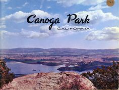 """Canoga Park Business Brochure.Contains information on local companies such as Thompson Ramo Wooldridge (TRW), Litton Systems, Rocketdyne, Atomics International, as well as shops and businesses: Benson's Paint Company, Larrie's """"Never a Bum Steer"""" meat and grocery market, and the Sheryl-Anne clothing shop. Cover photo shows Chatsworth Reservoir. Canoga-Owensmouth Historical Society. San Fernando Valley History Digital Library."""