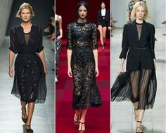 Sultry Sheer The go-to color for effortless chic, whether worn as a little black dress or elegant evening wear, black is the ultimate style armor, especially when it toys with the art of suggestion. This season we saw Bottega Venneta experiment with suggestive style as the house presented a little black dress, boasting see-through inserts. Dolce & Gabbana offered a sultry black dress with expertly designed cut-outs, while an alluring all-black silhouette took to the runway for Michael Kors.