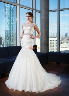 Meerjungfrau-Linie/Mermaid-Stil Tülle Elegant & Luxuriös Brautkleider 2014