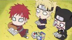 Chibi Gaara, Temari, and Kankuro from Naruto SD Naruto Sd, Naruto Gaara, Naruto Comic, Anime Naruto, Manga Anime, Naruto Teams, Naruto Cute, Naruto Funny, Naruto Shippuden
