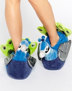 Nyla peacock slippers #peacock #asos