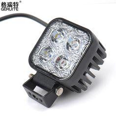 2pcs 12w Car LED Light Offroad Work Light Bar for Jeep 4WD AWD Suv ATV Golf Cart 12v 24v Driving Lamp Motor Fog Spot/Flood Light