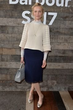 12 June 2016 - Eva Herzigova at the Barbour presentation.   - HarpersBAZAAR.co.uk