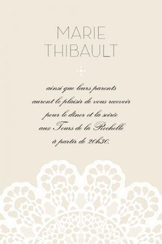 Carton d'invitation mariage Boudoir dentelle  by Marion Bizaet pour www.rosemood.fr #mariage #wedding #invitation