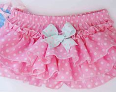 Baby Bloomers Baby Bloomers Mint With Cute Ruffle in by cacababy