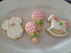 Custom Baby Shower Cookies Onsies Rocking Horses & by dngreenhouse