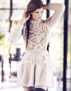fuzzyfindings:  Stickad klänning av ull/mohair, görs på...