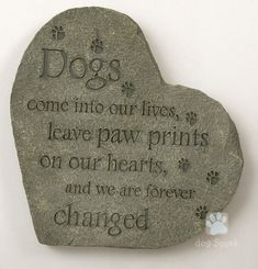 Pet Memorial Stone - Pawprints on Our Hearts