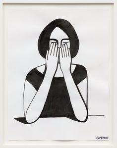 """Geoff McFetridge, ""Untitled"", Ink on paper, 64 x 50 cm"" Geoff Mcfetridge, Travel Sketchbook, Cloud City, Project, Cool Art, Nice Art, Art Inspo, Illustration Art, Digital Art"