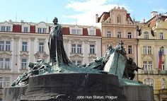 A colossal memorial on the Old Town Square of Prague commemorates Jan Hus, a 14th century religious reformer who challenged the opulence and corruption of the catholic church. The monument has become a symbol of Czech independence.