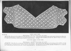 Princess Yoke Book c 1916 Crochet Yoke, Crochet Collar, Lace Collar, Thread Crochet, Irish Crochet, Diy Crochet, Crochet Stitches, Bolero Pattern, Free Pattern