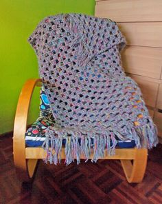 The Anarchist Knitter: 2.5 k - A Quick Granny Stripes Crochet Lapghan