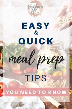 Easy quick meal prep to help save money and time in your busy life. Planning and prepping your meals ahead of time helps you avoid the fast food trap. Quick Healthy Snacks, Quick Easy Meals, Healthy Meals, How To Stop Procrastinating, Clean Eating Diet, Snacks For Work, Busy Life, Evening Meals, Meal Planner