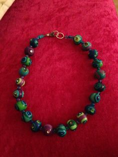 Necklace polymer clay beads