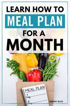 Meal planning is key to save money on groceries. Learning how to use monthly meal planning will stretch your grocery budget even further. Menu planning is simple for a monthly or weekly basis. Get your free printable worksheet and grocery lists. Healthy Menu Plan, Healthy Foods To Eat, Healthy Dinner Recipes, Budget Freezer Meals, Frugal Meals, Budget Recipes, Monthly Meal Planning, Menu Planning, What Is For Dinner