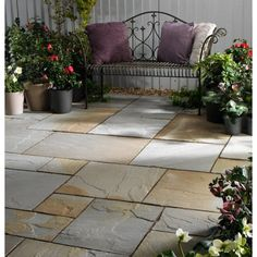 Natural cleft sandstone paving patio pack supplied by Stonemart, the leading professional natural stone exporter in india.